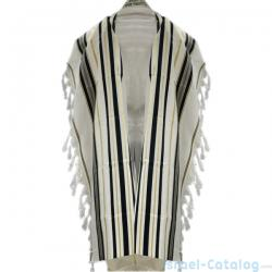 Black and Gold Wool Tallit