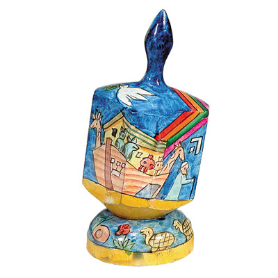 large-wooden-hand-painted-dreidel-and-stand-yair-emanuel-various-designs_0