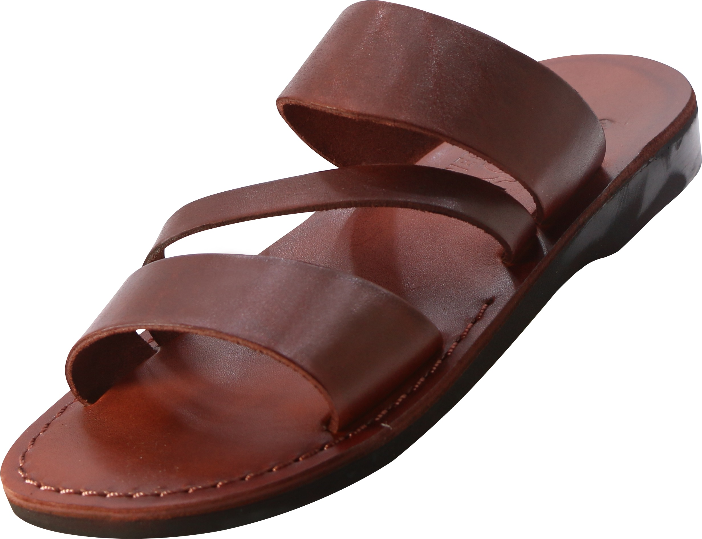 bea8e20e74e5 Buy Three Strap Slip-on Handmade Leather Biblical Sandals - Caleb ...
