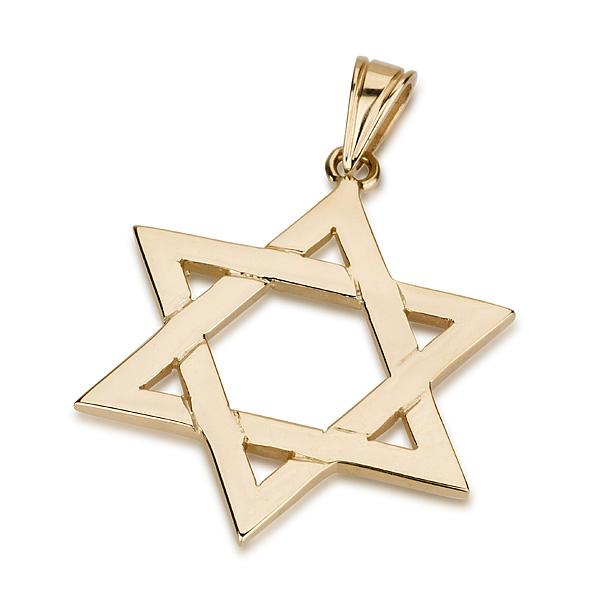 Buy 14k gold classic interlock design star of david necklace 14k gold classic interlock design star of david necklace aloadofball Images