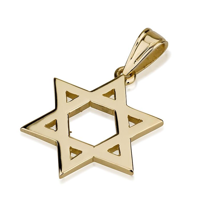 Buy 14k gold star of simplicity star of david necklace israel 14k golden star of simplicity star of david necklace aloadofball Images