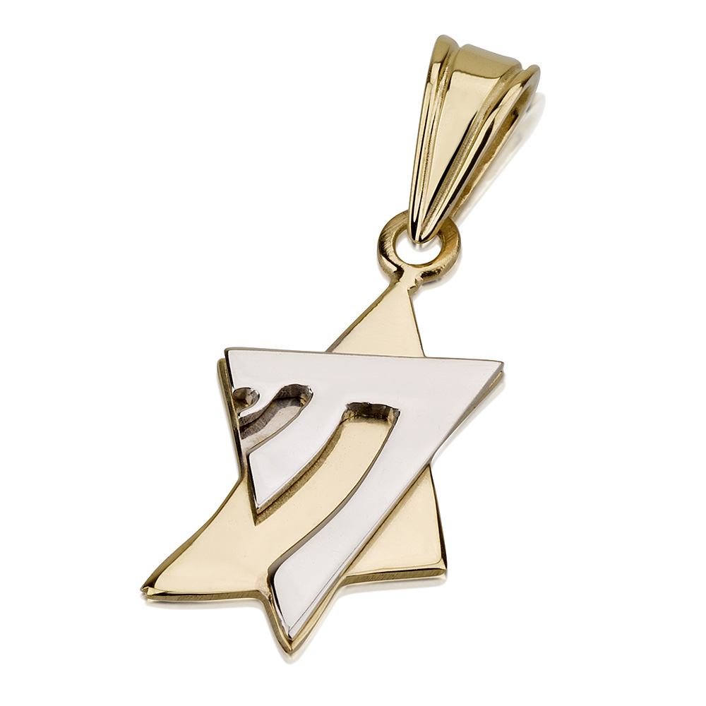 chai necklace of david shineon star magen symbol products with