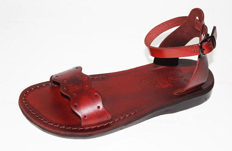 93d52895f24269 Buy Adjustable Ankle Front Wide Strap Handmade Leather Sandals- Sigal