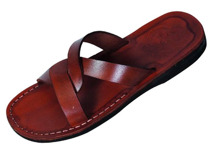 6e05fd3a1 Buy Basic Weave Design Slip-on Biblical Handmade Leather Sandals ...