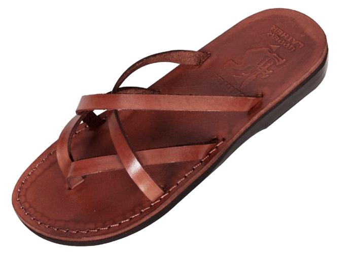 1de04f46418 Buy Criss-Cross Biblical Handmade Leather Flip-Flop Sandal - Carmel ...