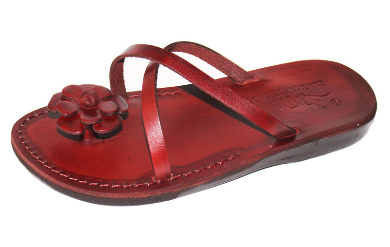 025a4e8f521b Buy Handmade Leather Backless Sandals Flower Toe Holder - Shoshana ...