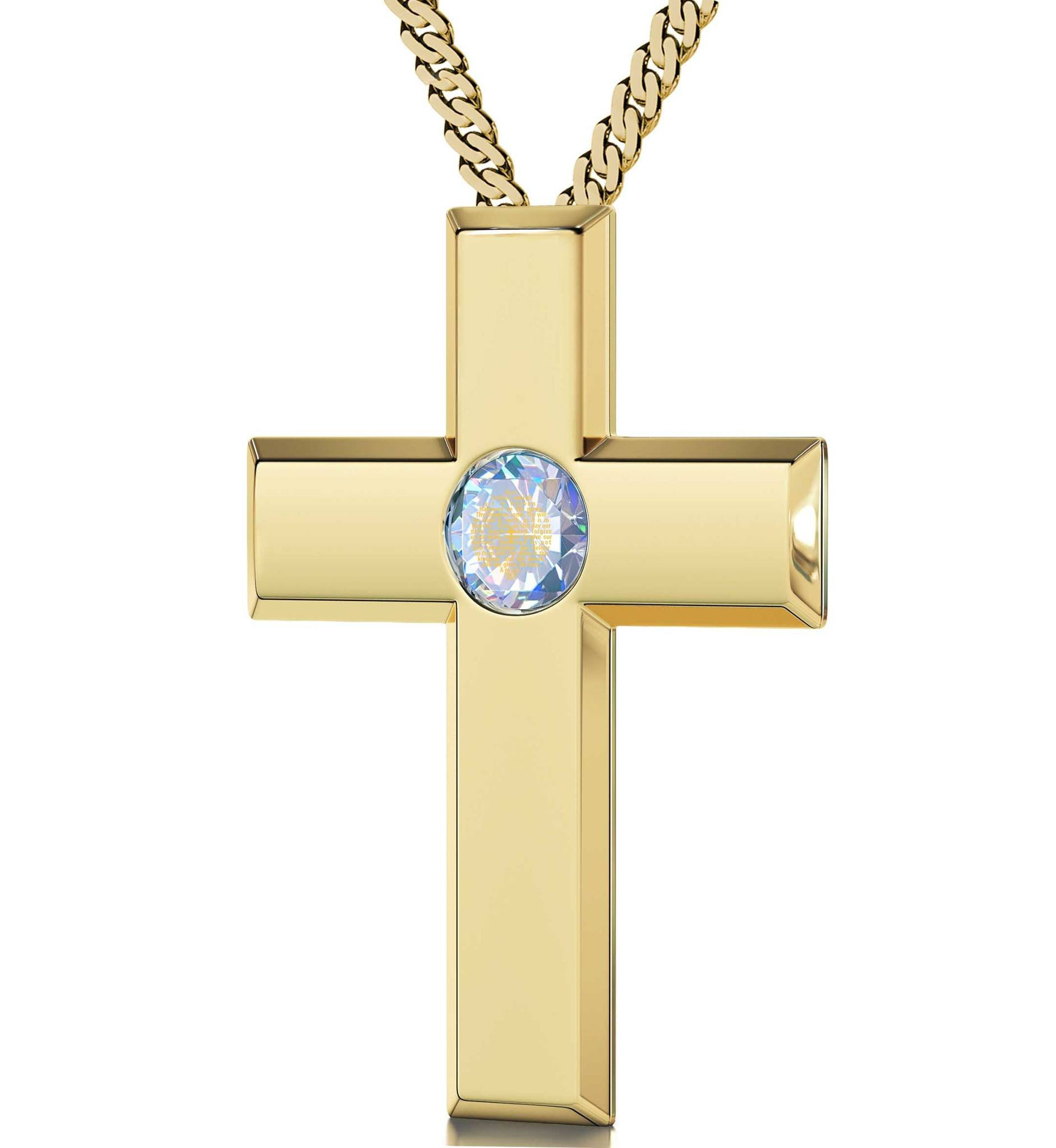 Buy The Lord S Prayer Kj Version Gold Plated Cross