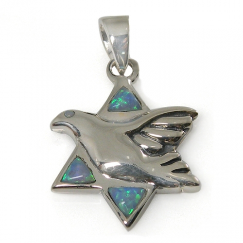 Peace Dove Star of David Necklace