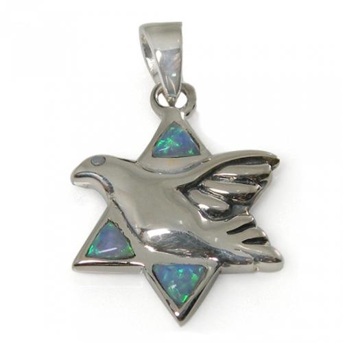 Peace Dove Star of David Necklace
