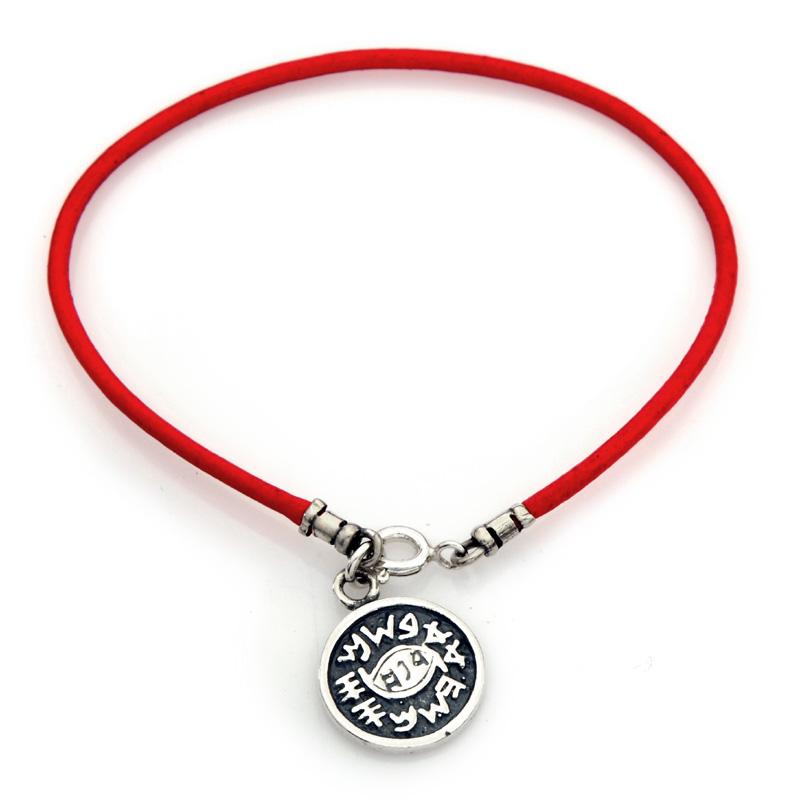 Red String Kabbalah Bracelet W Medallion Against Evil Eye