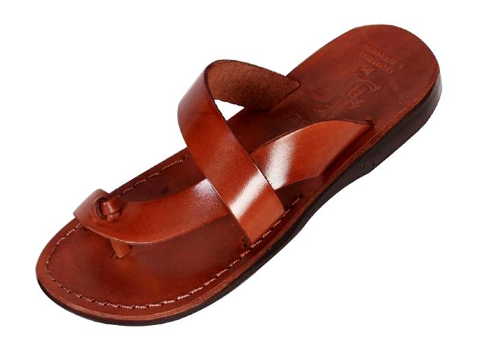 4b8383d05da3 Buy Side Cross L-Toe-Separator Slip-on Handmade Leather Biblical ...