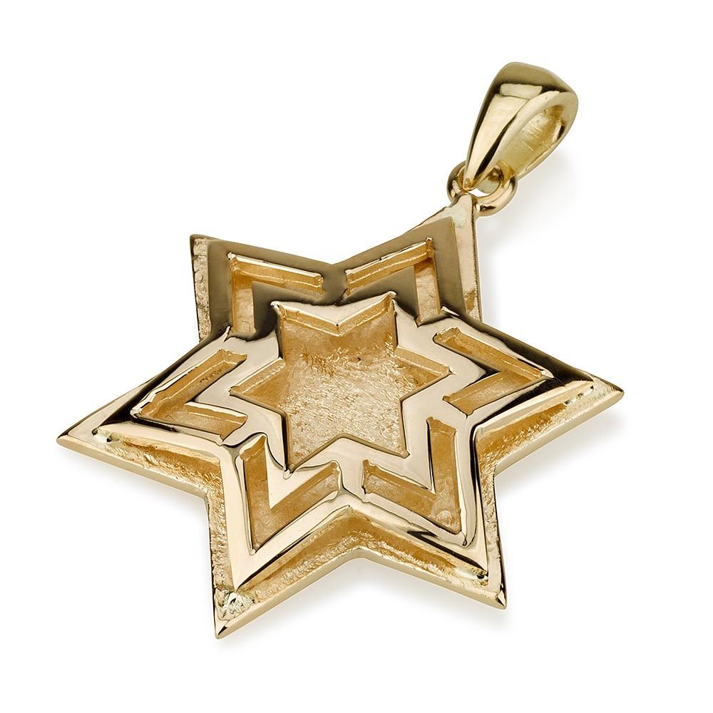 Buy star within star design 14k gold star of david pendant israel star within star design 14k gold star of david pendant aloadofball Images