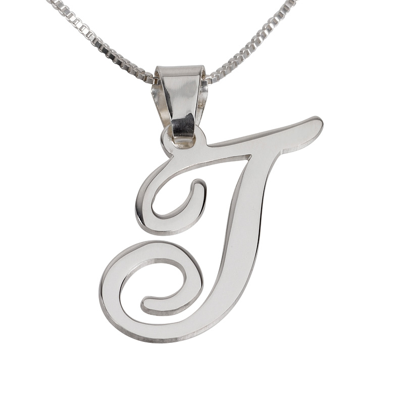 Buy stunning silver initial pendant necklace israel catalog stunning silver initial pendant necklace mozeypictures Image collections