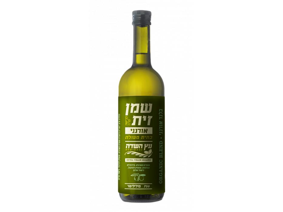 Extra Virgin Israeli Organic Blend Olive Oil by Etz Hasade (25 oz)