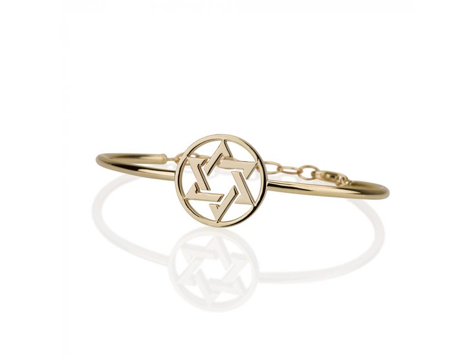 14K Gold Bracelet with Star of David