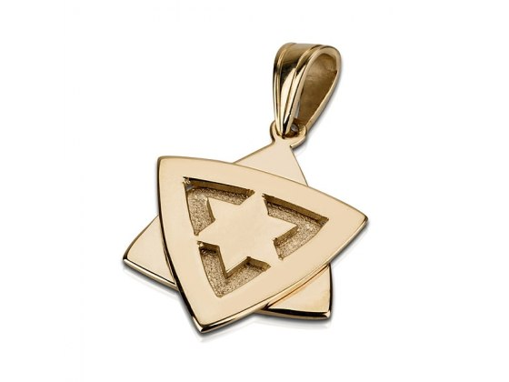 14K Gold Double, Star of David Necklace