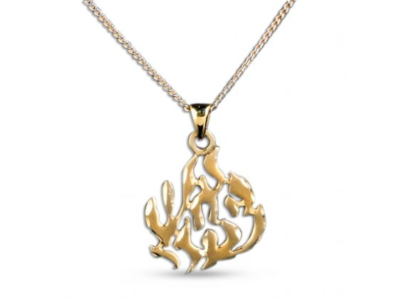14KGold My Flame Necklace