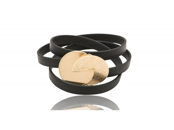 72 Names Of God Leather and Gold Kabbalah Bracelet