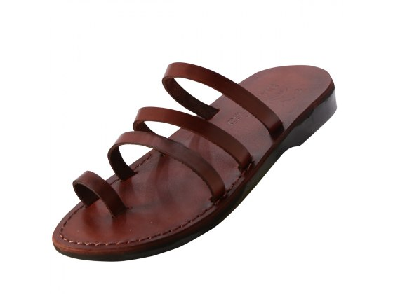 Three Strap Slip on Handmade Sandals - Avia