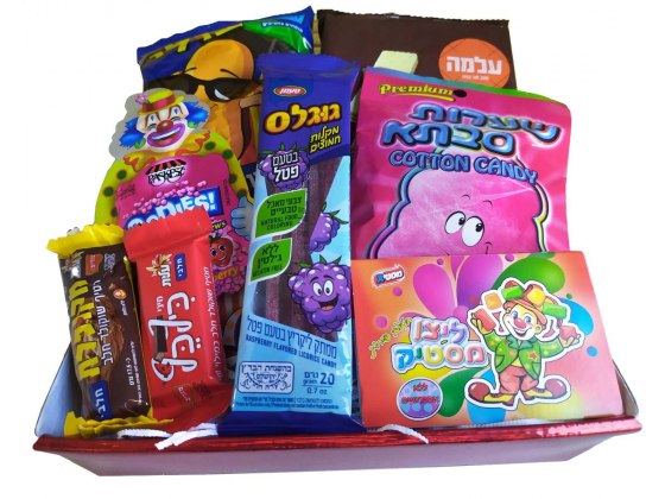 Strictly Kosher Colorful Snacks Basket