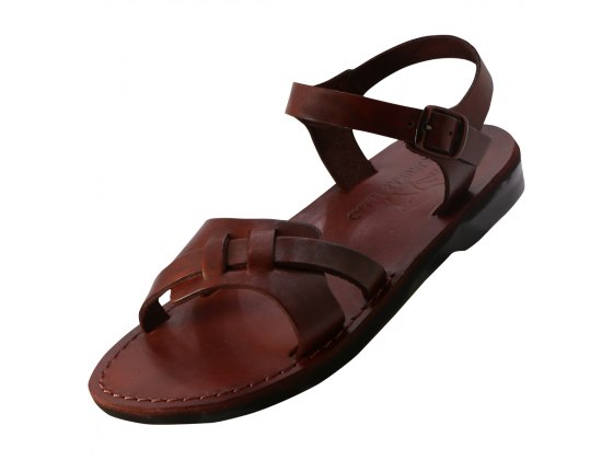 Fashionable Double Front Strap Handmade Sandals - Alma