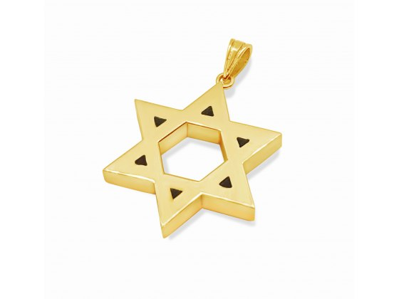 14K Gold Thick Star of David Classic Design