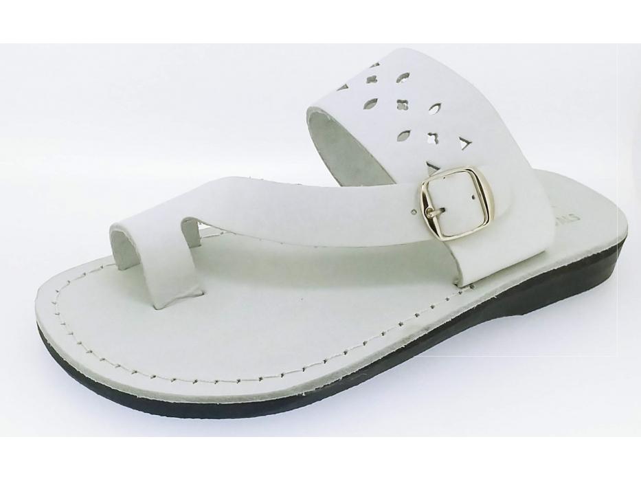 Bucklen Flip-Flop Handmade Leather Sandals - Aharon