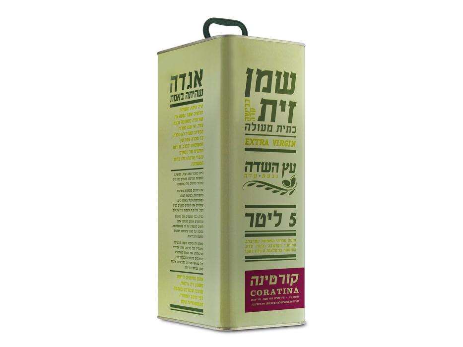Extra Virgin Israeli Coratina Olive Oil by Etz Hasade (169 oz)