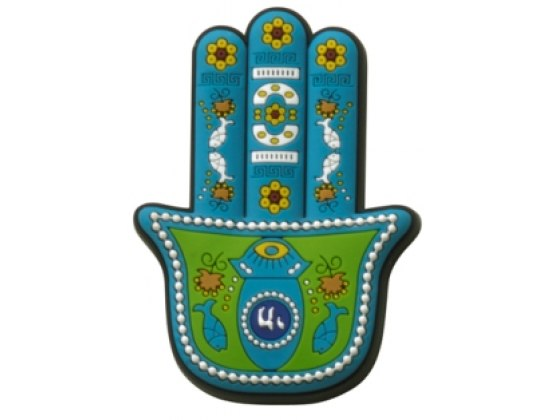 3 Dimentional Colorful Turquoise Hamsa Magnet