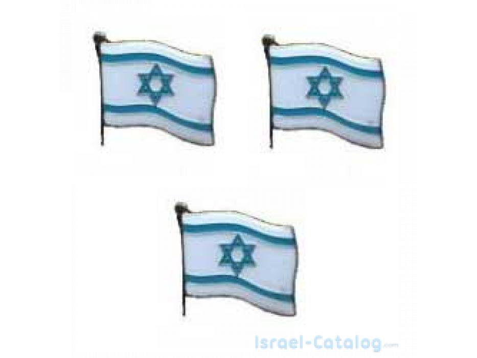 3 Israel Flag Lapel Pin