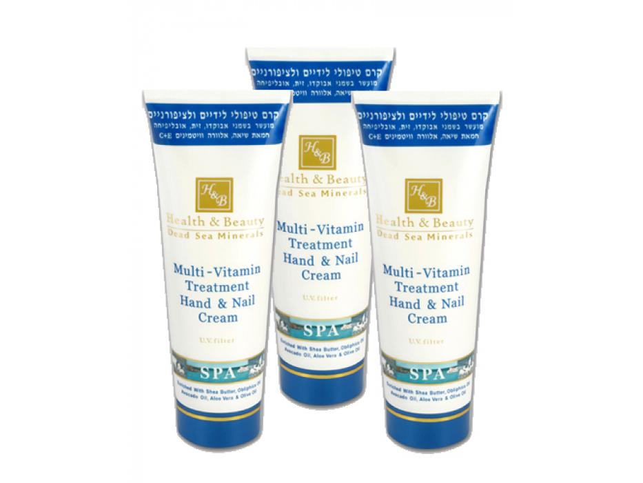 Dead Sea Minerals Multi-Vitamin Hand & Nail Cream, 3 x 100ml