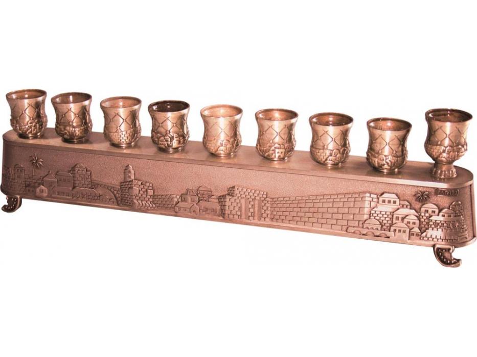 Hanukkah Menorah Jerusalem Copper Magic Menorah