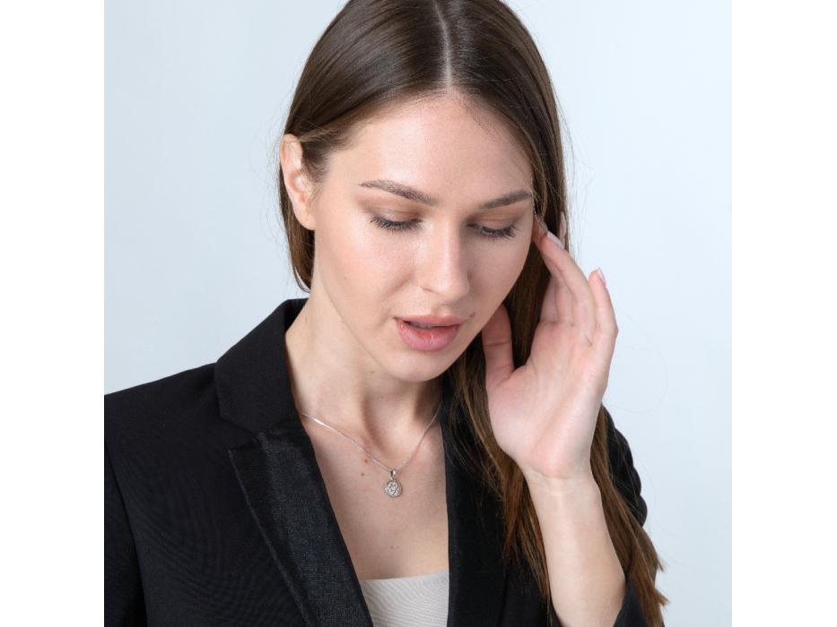 Marina Jewelry Sterling Silver Zircon Star Of David Necklace