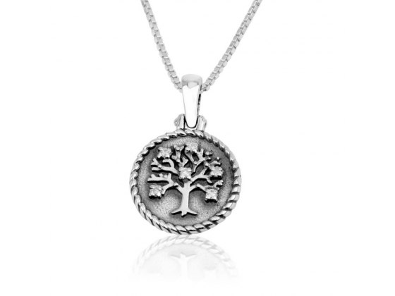 Marina Jewelry Sterling Silver Zircon Tree Of Life Necklace