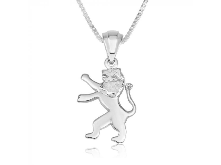 Lion Of Judah Necklace Sterling Silver Jerusalem Emblem