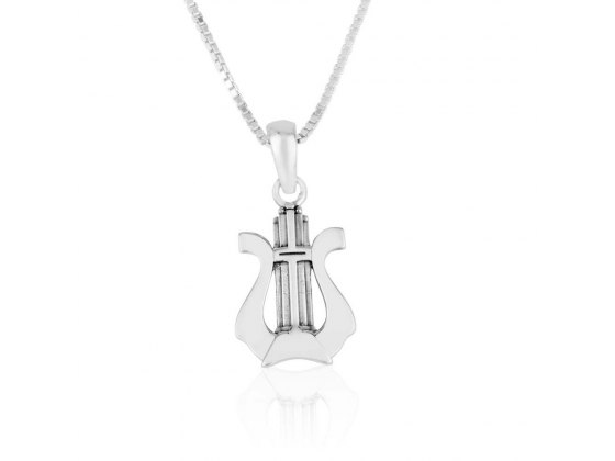 David's Harp Necklace Sterling Silver By Marina Jewelry