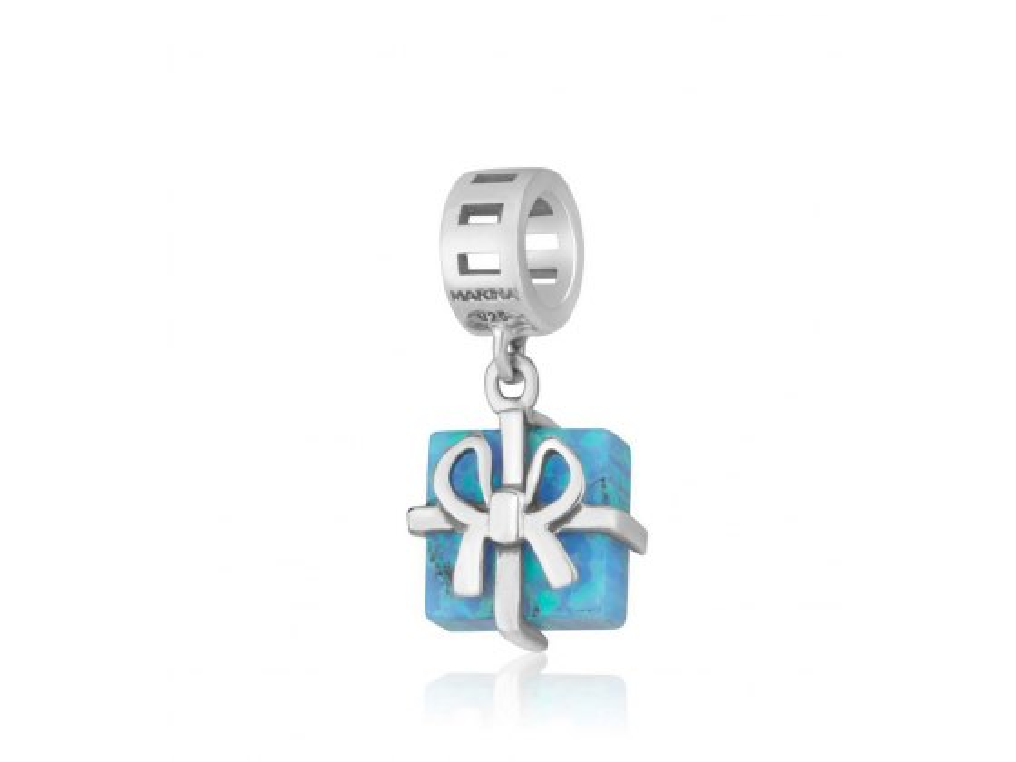 Marina Jewelry Sterling Silver Gift Box Charm Bead