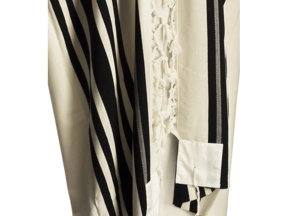 Talitania Real Turkish (Echt) Wool Tallit Prayer Shawl with Black Stripes