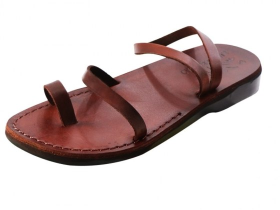 Toe and Ankle Thin Strap Handmade Leather Sandals Bat-El