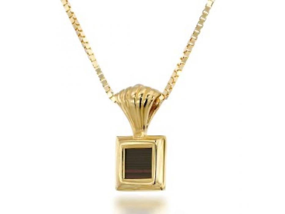 Gold Plated Whole Bible Nano Jewelry Layered Square Pendant