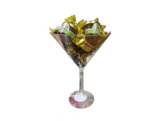 New Year Martini Sweets Gift Basket