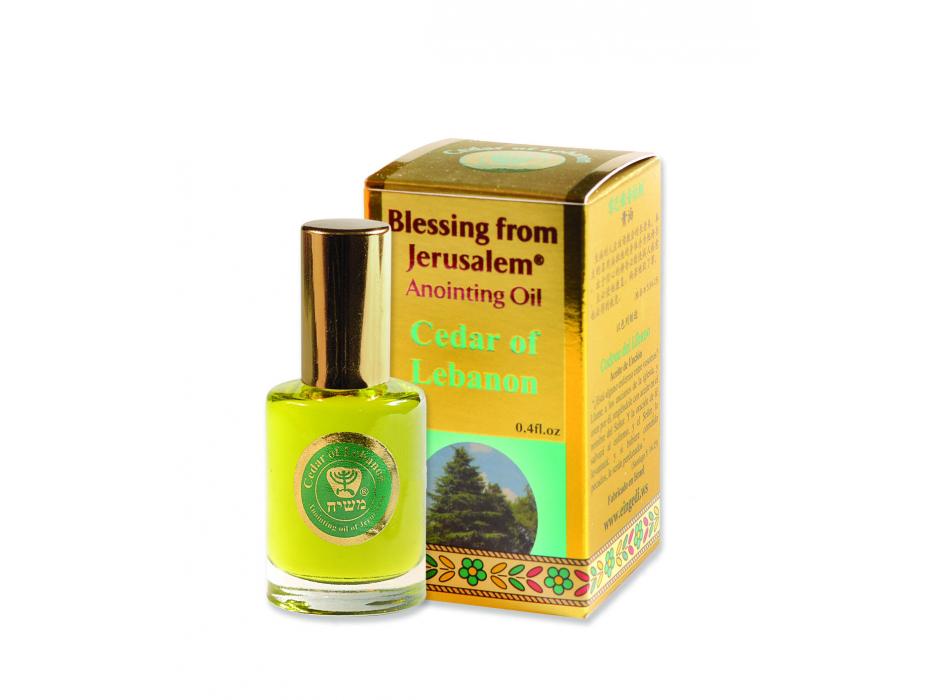 Blessing from Jerusalem Gold Anointing Oil Cedar of Lebanon (12 ml)