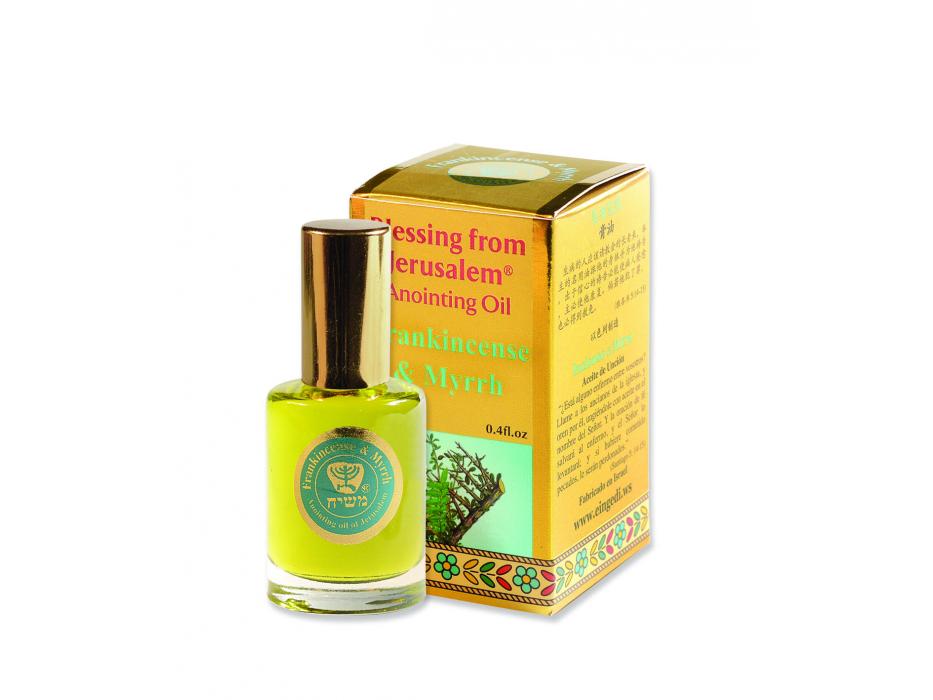 Blessing from Jerusalem Gold Anointing Oil Frankincense & Myrrh (12 ml)