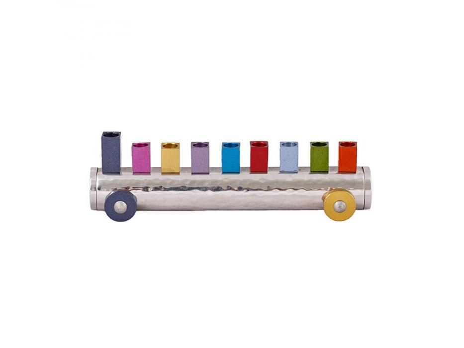 Emanuel Judaica Kids Menorah Colorful Train