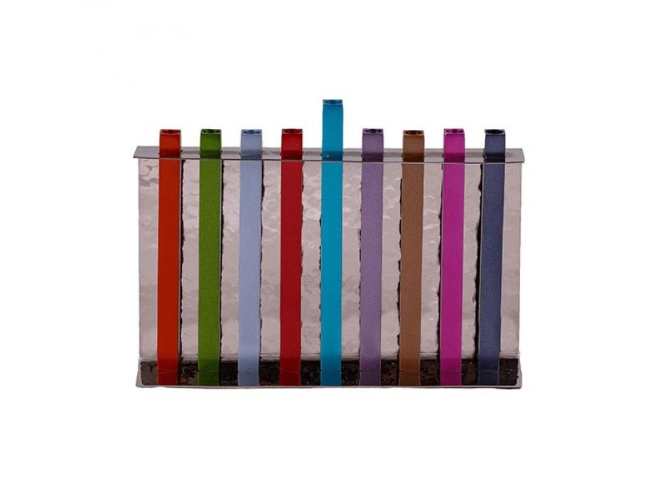 Yair Emanuel Multicolor Long Stems Hanukkah Menorah