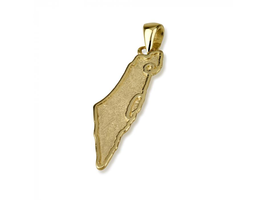 14k Gold Land of Israel Necklace