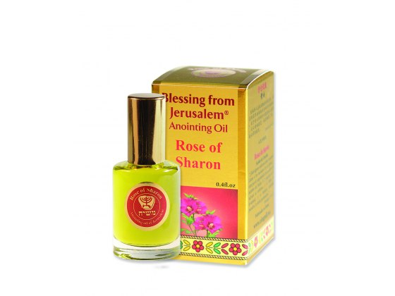 Blessing from Jerusalem Gold Anointing Oil Rose of Sharon (12 ml)