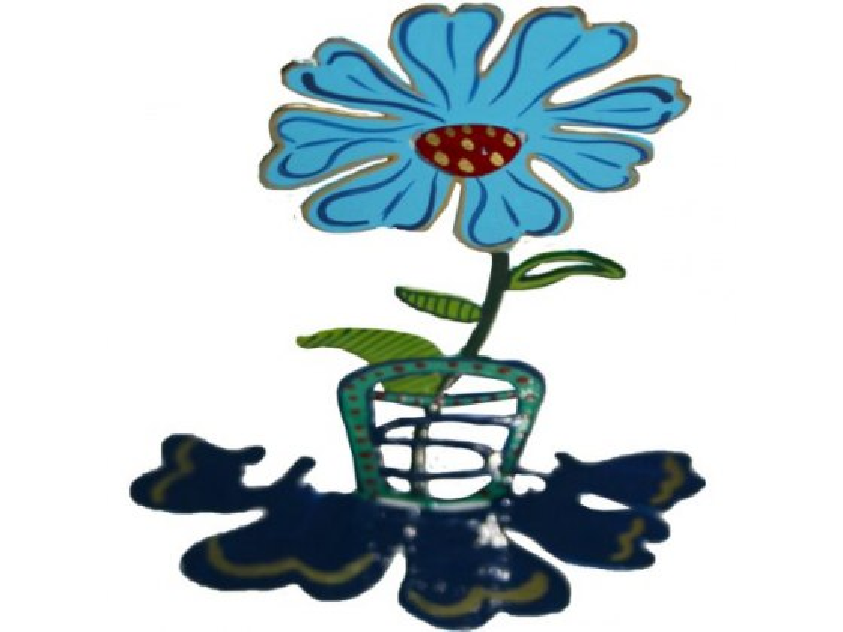 Yair Emanuel Free Standing Blue Flower