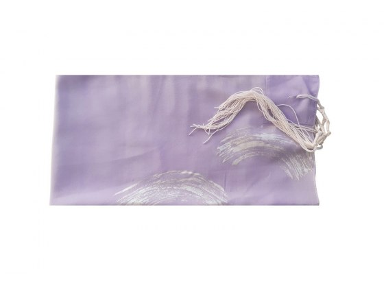 Galilee Silks Lilac Silk Women's Tallit with Hand Painted Silver Waves