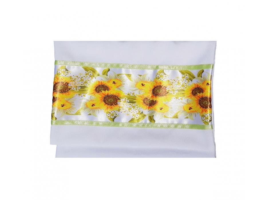 Galilee Silks Women's Silk Tallit with Hand Painted Sunflowers